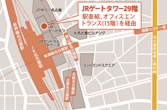 「セブンデイズプラザ なごやえきまえ」の地図
